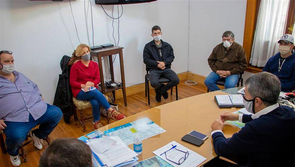 Hubo una reunión con los delegados de las localidades del Partido.