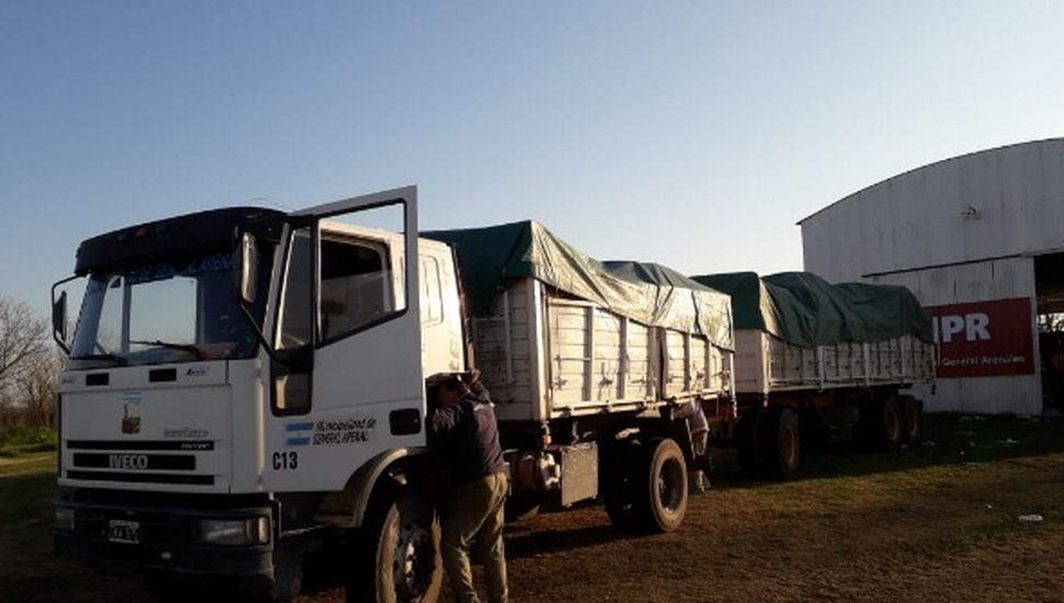 Arenales: partió un camión con 3099 kilos de material reciclable