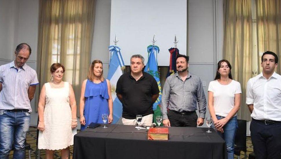 Las nuevas autoridades del Consejo Escolar.