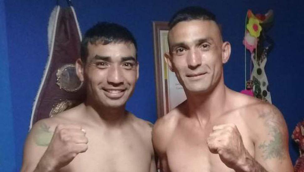 """Fernando Ezequiel """"Manzana"""" Farías (izquierda) y su rival de esta noche, Luis Valenzuela, pesaron ayer 70.500."""