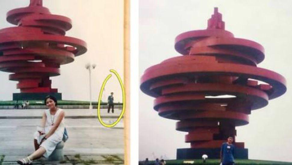Un matrimonio descubrió que aparecieron en la misma foto once años antes de conocerse