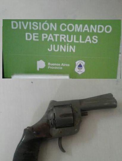 El arma de fuego fue incautada.