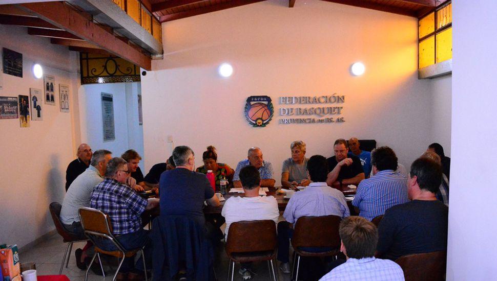 Una imagen de la reunión del sábado en La Plata.