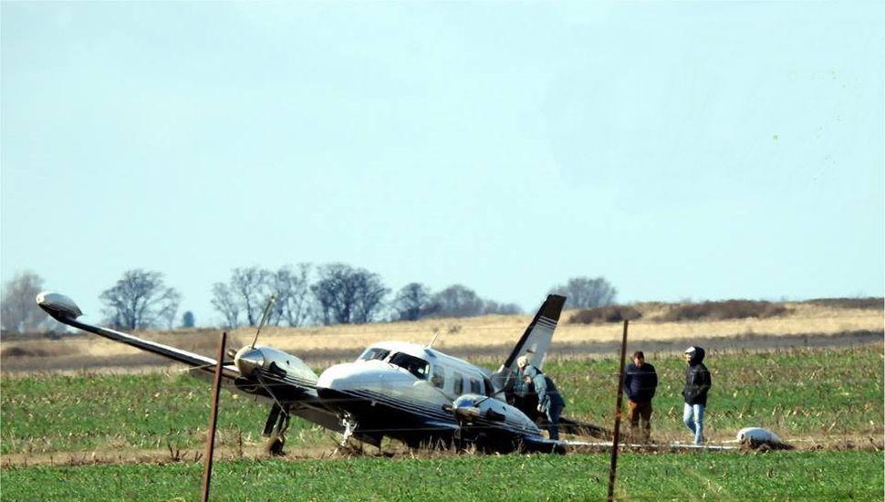 Un avión con cuatro ocupantes se accidentó cerca de Catriló
