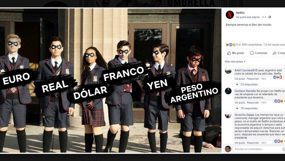 El meme de Netflix sobre la economía argentina que generó polémica en las redes