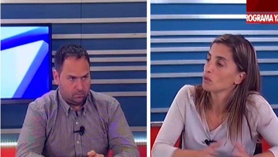 Agustina De Miguel, secretaria de Gobierno, ayer, en TeleJunín.