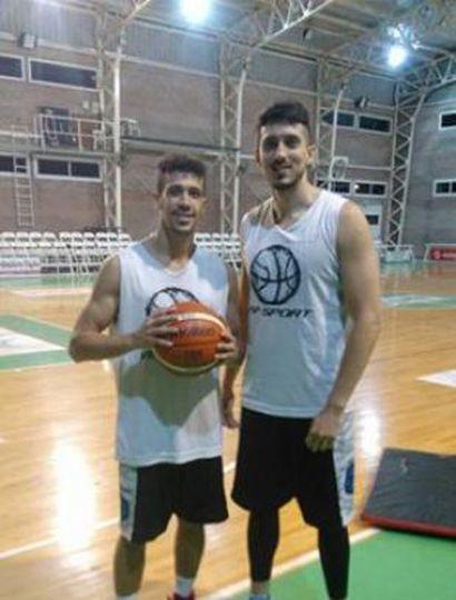 Mauro Araujo y Lucas Díaz, durante el primer entrenamiento de la temporada.