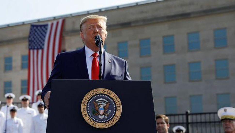 Trump amenazó a los talibanes  en el 18º aniversario del 11-S