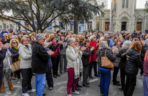 En Junín también marcharon en apoyo  al Gobierno