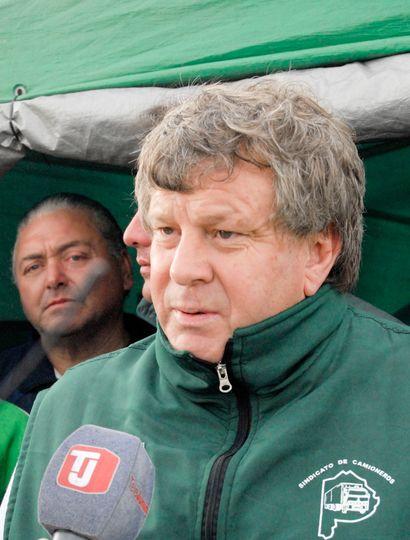Miguel Gauna, secretario general del gremio camionero en Junín.