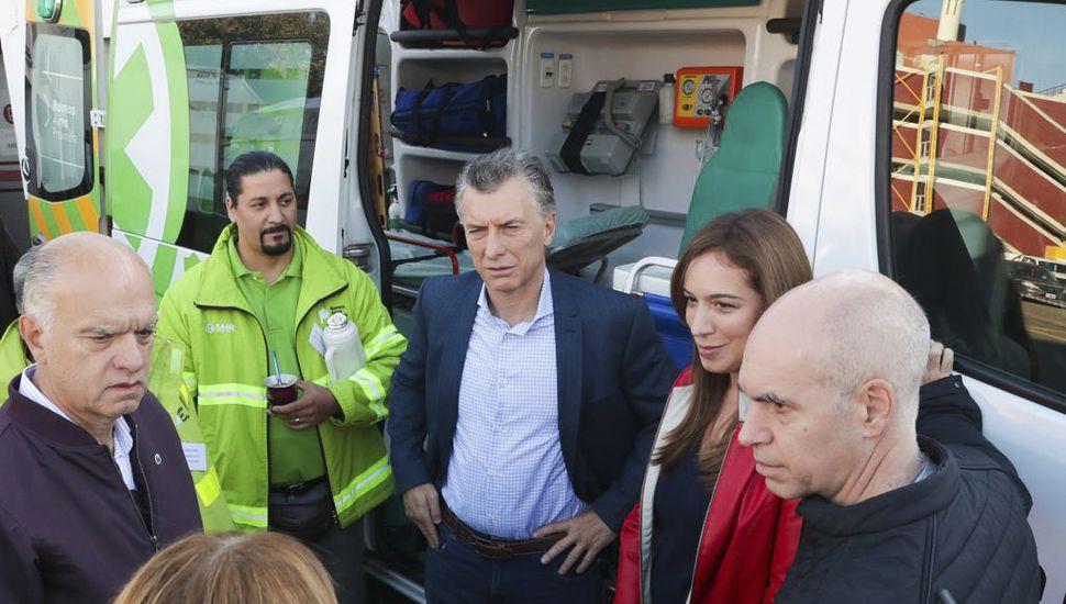 """Tras el paro, Macri se mostró con Vidal y Larreta y llamó a fortalecer la """"cultura del trabajo"""""""