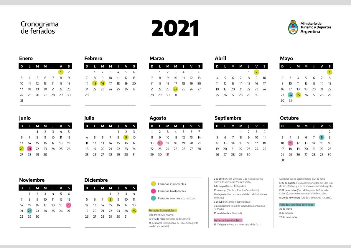 feriados 2021 en argentina