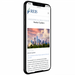 responsive mobile design for reis moody's wordpress website shown on iphone
