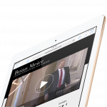 real estate broker web design mobile video shown on iPad