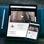 real estate broker landing page web design sales tool on ipad and iphone