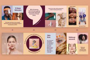Skin Care Tips Instagram Gallery Banner Design Concept
