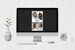 Simple Makeup Collage Instagram Post design concept