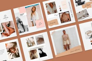 Paper Style Mood Board Fashion & Beauty Instagram Posts