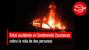 Fatal accidente en Sombrerete Zacatecas cobra la vida de dos personas
