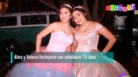Alma y Valeria festejaron sus anhelados 15 años