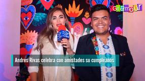 Andrés Rivas celebra con amistades su cumpleaños