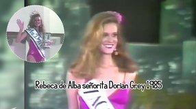 Rebeca de Alba señorita Dorian Grey 1985