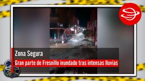 Gran parte de Fresnillo inundado tras intensas lluvias