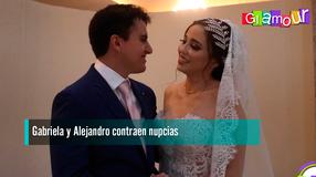 Gabriela y Alejandro contraen nupcias