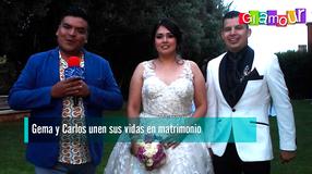 Gema y Carlos unen sus vidas en matrimonio