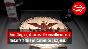 Decomisa GN envoltorios con metanfetamina en camión de pasajeros