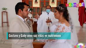 Gustavo y Gaby unen sus vidas en matrimonio
