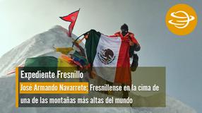 José Armando Navarrete; Fresnillense en la cima de una de las montañas más altas del mundo.