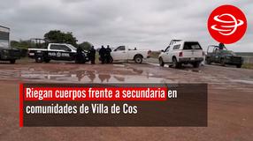 Riegan cuerpos frente a secundaria en comunidades de Villa de Cos