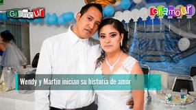Wendy y Martín inician su historia de amor