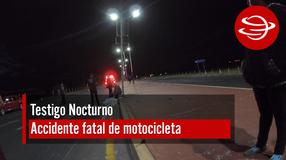 Accidente fatal de motocicleta