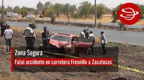 Fatal accidente en carretera Fresnillo a Zacatecas