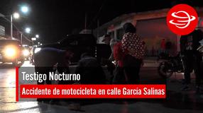 Accidente de moto en calle García Salinas