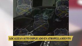 Aseguran vehículo implicado en atropellamiento