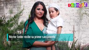 Héctor Javier recibe su primer sacramento