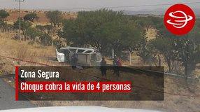 Choque cobra la vida de 4 personas en carretera Zacatecas – Durango