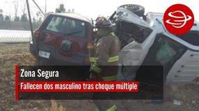 Fallecen dos masculino tras choque múltiple en carretera Enrique Estada – Calera