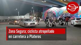 Ciclista atropellado en carretera a Plateros