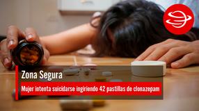 Mujer intenta suicidarse ingiriendo 42 pastillas de clonazepam