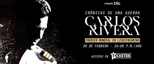 Carlos Rivera listo para el estreno su documental 'Crónicas de una guerra'