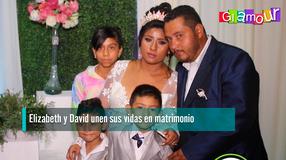 Elizabeth y David unen sus vidas en matrimonio