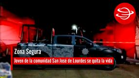 Joven de la comunidad San José de Lourdes se quita la vida