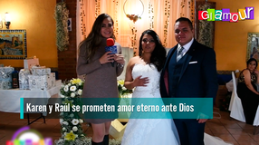 Karen y Raúl se prometen amor eterno ante Dios