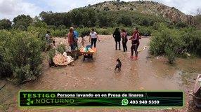 Lavando en Presa de Linares