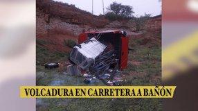 Volcadura en carretera a Bañón