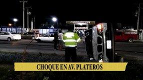 Choque en avenida Plateros